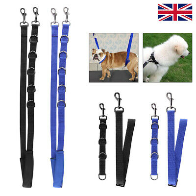3Pcs Dog Grooming Harness Strap Noose Restraint Belly Pad 2 Colours Uk