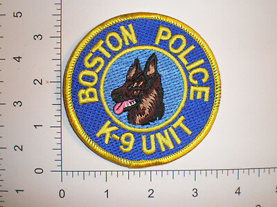 MA Massachusetts BOSTON Police K-9 Canine unit patch