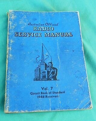 A.O.R.S.M. Volume 7 Australian Official Radio Service Manual (1948 receivers)