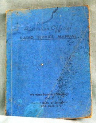A.O.R.S.M. Volume 2 Australian Official Radio Service Manual (1938 receivers)