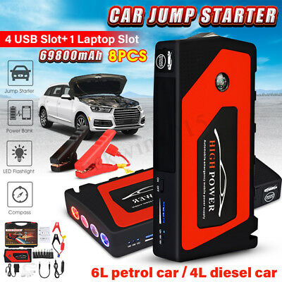 69800mAh auto Jump Starter batteria caricabatterie Booster banca Rescue Pack