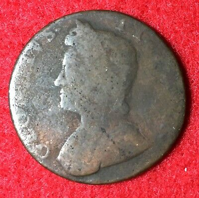 1734 Great Britain Half-Penny – King George III Reign (Lot GBA)