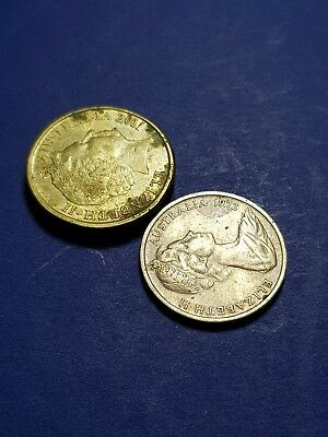 2011 & 1972 AUSTRALIAN 2$ & 5 cent coins rare collectable low mintage cud ERROR