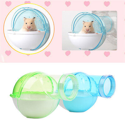 Hamster Mouse Cage External Bathroom Sauna Sand Bath Room Potty Toilet Plastic