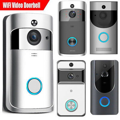US WiFi Wireless Video Doorbell Two-Way Talk Smart Door Bell Security Camera HD
