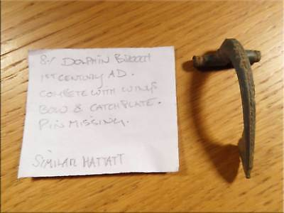 Large Dolphin Brooch Romano British 1st Century AD as Found & Uncleaned UK