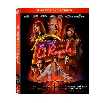 BAD TIMES AT THE EL ROYALE Blu-ray/DVD/Digital (CASE,COVER,CODE,ALL DISC)