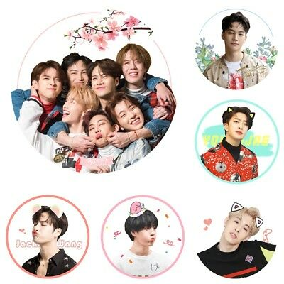 Kpop Got7 Present You Portable Makeup Fold Mirror Bambam Yugyeom Jackson Compact Mirror Jewelry Findings & Components