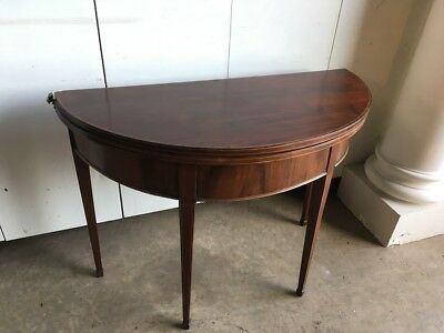 19th Century Mahogany Inlaid Flip Over Tea Table