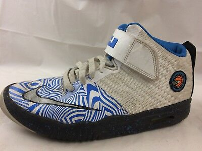 6d6493ce456 Nike Air Akronite Boys 7 Youth 819832-101 White Blue Lebron Shoes Hi Top  Sneaker