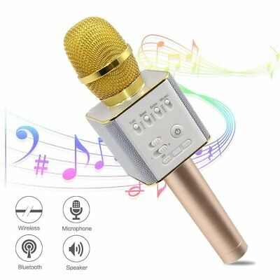 Handheld Wireless Bluetooth Karaoke Microphone Mic Speaker USB Music Player