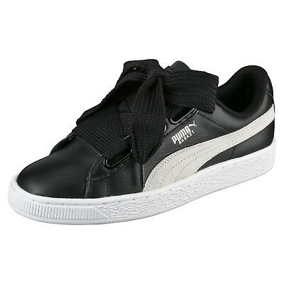 Femme Baskets | Puma Basket Heart Hyper Embroidery Puma Black