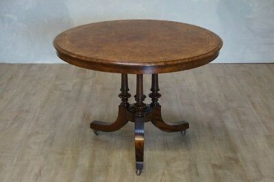 Antique Inlaid Walnut Centre Table