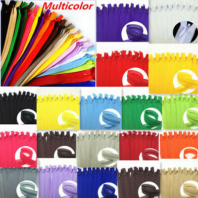 5-100pcs (11-12-16-18-20-24 inch) Nylon Invisible Soft tulle Coil Zippers Sewing