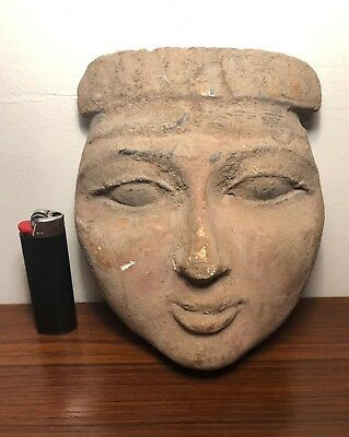 "Romano Egyptian terracotta ""mummy mask"" 1st century ad"