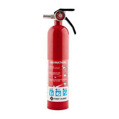 First Alert Rechargable Standard Home Fire Extinguisher, Red 1038789