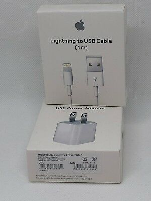 OEM Original Wall Charger and Lightning USB Cable for Apple iPhone X 8 7 Plus