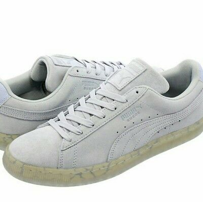Ruze Shoes: Puma Roma Smooth Nubuck Mens Gray Classic Low