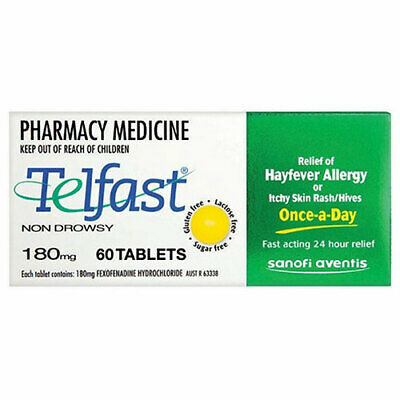 NEW Telfast 180mg - 60 Tablets