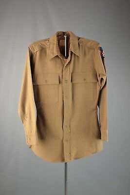 Vtg WWII US Army Air Force Officer's Wool Dress Shirt Small 40s WW2 #5830 USAF