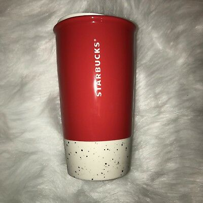 New Starbucks Holiday 2017 Red JOYFUL Travel Mug Tumbler + Lid