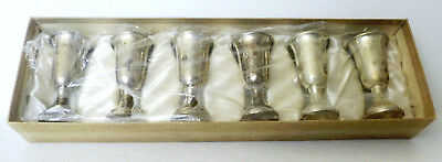 6 Vintage Sterling Silver Cordials sealed, new in box.