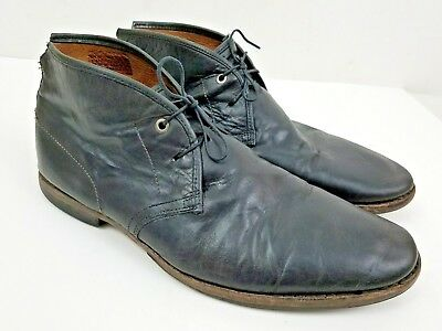 79a3d9391dc Timberland Wodehouse Lost History Chukka Black Leather Men s Ankle Boots Sz  11