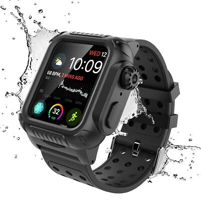 For Apple Watch Series 4 40mm & 44mm Shockproof Case Built-in Screen Protector