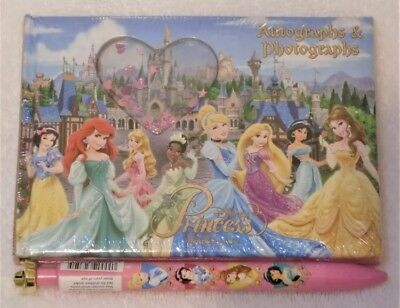 Disney Parks Disneyland Princess Autograph and Photograph Book With Pen NEW