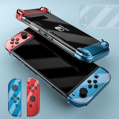 For Nintendo Switch Console Game Clear Shockproof Hard Protective Case Cover UK