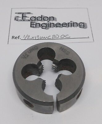 "1/2"" x 13TPI UNC (Unified National Coarse) Button Die, HSS. By top brands."