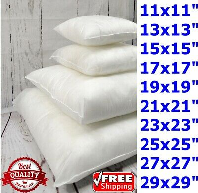 Cushion Inserts Inners Pads Scatter Square Pillow Floor Hollow Fiber Odd Sizes