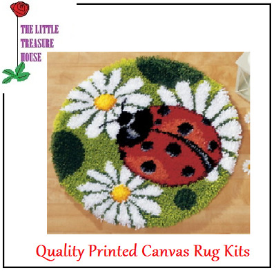 Ladybird Latch Hook Rug Kit - Rug Making - Everything included