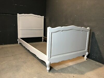 Vintage French Single size bed/ Painted French bed shabby chic style(VB264)