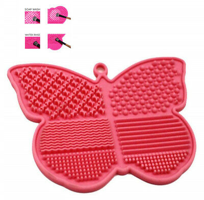 PRO-Silicone Makeup Brush Cleaner Cleaning Cosmetic Scrubber Board Mat Pad Hand