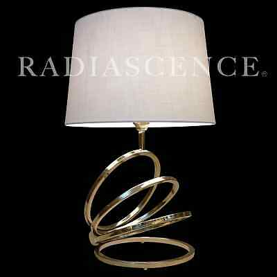 "POP OP ART MODERN BRASS ""COIL"" RING SCULPTURE TABLE LAMP 1960s LAUREL"