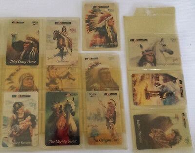 $2.50 Phone Cards by Perillo LOT OF 12: Native American