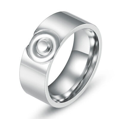 316L Stainless Steel Fashion Men/Women Round Rings 8mm Wedding Bands Size 7-10