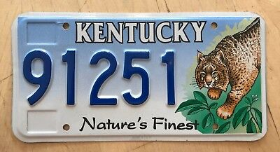 """Kentucky Nature's Finest Bobcat Graphic Auto  License Plate """" 91251 """" Ky"""