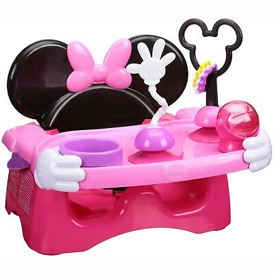 Baby Girl Minnie Mouse Feeding Chair Activity Center Booster Adorable Design
