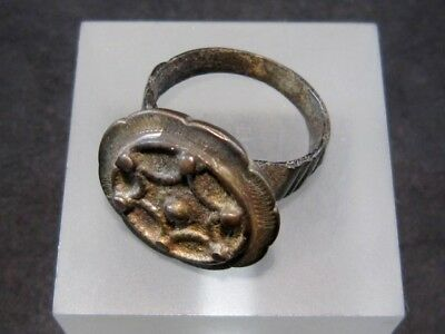 BEAUTIFUL LARGE BYZANTINE BILLON RING in TOP DESIGN+++TOP CONDITION+++