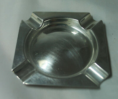 Art Deco Silver Ashtray Henry Matthews Birmingham 1930 40g A685317