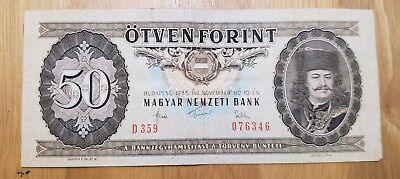 1983 Hungary 50 Forint World Currency Note