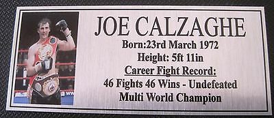 "JOE CALZAGHE new Boxing Champions Gold  Subimated Plaque ""FREE POSTAGE"""