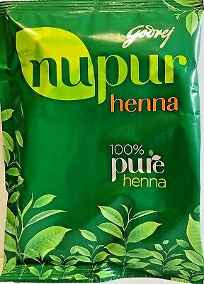 Godrej Nupur Henna Powder 400g New Pack With Herbs Hair Color 100