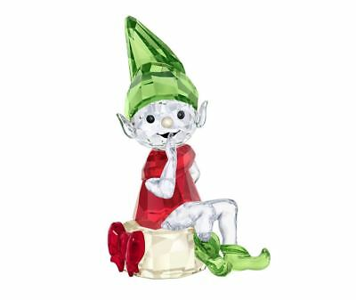 Authentic New in Box $119 SWAROVSKI 2018 CRYSTAL CHRISTMAS SANTA'S Elf  #5402746