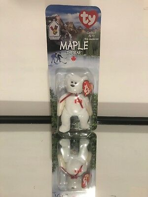 90d0f22861b McDonalds Happy Meal Collectible Maple The Bear TY Teenie Beanie Babies 1999