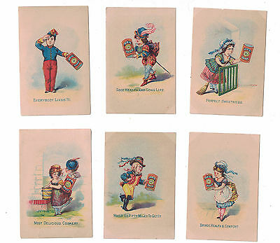 6 Gantz,Jones & Co's Sea Foam Trade Cards Charlotte Perkins Gilman Baking Soda