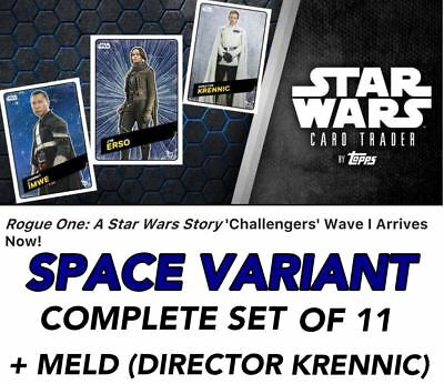 ROGUE ONE CHALLENGERS WAVE 1 SPACE VARIANT SET OF 11 + MELD Star Wars Digital