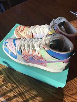 new arrival a8b3b 72e67 NIKE SB ZOOM DUNK HIGH THOMAS CAMPBELL WHAT THE Dunk SZ 12